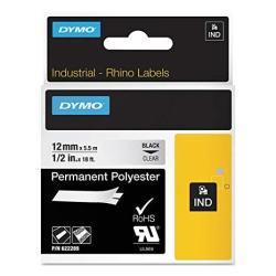 """Dymo Label Dymo Rhino Clear 1 2"""" Poly"""
