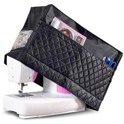 Sewing Machine Cover With 3 Convenient Pockets Protective Quilted Dust Cover Pro Universal For Most Standard Singer & Brother Ma