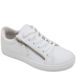 Jada Ladies Side Zip Takkies - White