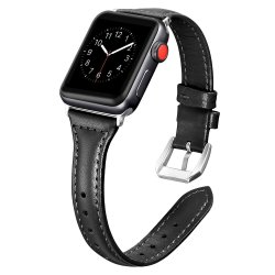Secbolt Leather Bands Compatible Apple Watch Band 42MM 44MM Slim Replacement Wristband Sport Strap For Iwatch Series 4 3 2 1 Edi
