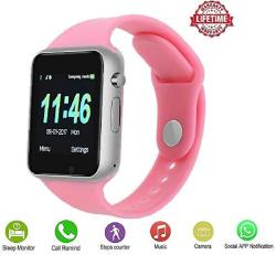 Girls Womensmart Watch Plysin Bluetooth Touch Screen Smartwatch Unlock Cell Phone Sim 2G GSM Camera Sleep Monitor Push Message Anti Lost Etc Men Wom
