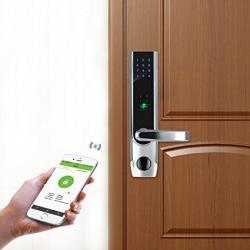 ZKTeco TL400B Fingerprint Biometric Bluetooth Smart Door Lock Digital Keyless Keypad Code Locks+ 5PCS Rfid Cards Right Handed