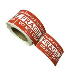Fragile Permanent Adhesive Label 500 Per Roll
