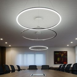 LightInTheBox Modern Contemporary LED Integrated Max 35W Pendant Silver Acrylic Light Design Living LED Ring Bulb Included