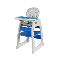 Mamakids 2-IN-1 Feeding Chair - Blue