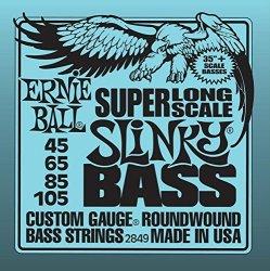 Ernie Ball Super Long Scale Nickel Wound Slinky Bass Guitar Strings Set .045 - .105