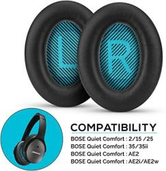 Upgraded Earpads For Bose QC25 Replacement Ear Pads Made With Premium Faux Leather & Real Memory Foam Soft & Long Lasting Earpad
