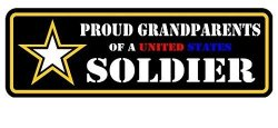 American Stickers USA INC 3 Pack - Proud Grandparents Of Us Army Soldier Decal Sticker 2X6