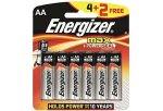 Energizer 1.5V Max Alkaline Aa Battery Card 4+2