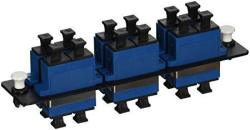 C2G CABLES To Go 31105 Q-series 12-STRAND Sc Duplex Pb Insert Multimode single-mode Adapter Panel Taa Compliant Blue