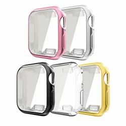 Compatible With Apple Watch Case With Buit In Tpu Screen Protector Series 5 Series 4 44MM 5 Pack All Around Protective Case Ultra-thin Cover