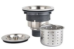 KONE 3-1 2-INCH Kitchen Sink Strainer With Removable Deep Waste Basket  Strainer Assembly Sealing Lid Stainless Steel | R | Car Parts & Accessories  |