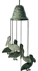 San Pacific International, Inc. Spi Home Brass Pelican Wind Chime 30488