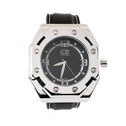 Ice Master Designer 14K White Gold Tone Black Dial King Sports Watch Kc Jojino Style Black Silicone Band