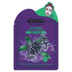 FreeMan Facial Sheet Mask 25ML Tea Tree And Blackberry