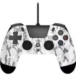 Gioteck VX-4 Premium Wired Controller For PS4 White Camouflage - Parallel Import