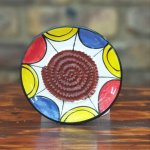 Blue Yellow Red African Grater Plate