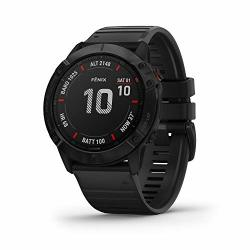 Garmin 010-02157-00 Fenix 6X Pro Premium Multisport Gps Watch Features Mapping Music Grade-adjusted Pace Guidance And Pulse Ox Sensors Black