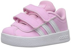 Adidas Kids' Vl Court 2.0 Sneaker Frost Pink Ftwr White Grey Two Fabric 5.5K M Us Toddler