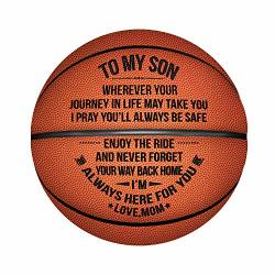 Kenon Engraved Basketball For Son - Personalized Basketball Indoor outdoor Game Ball For Son - To My Son Enioy The Ride And Never Forget Your