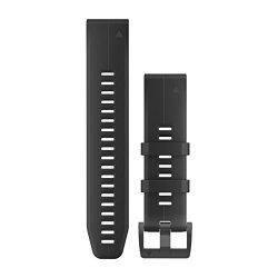 Garmin 010-12741-00 Quickfit 26 Watch Band - Black Silicone - Accessory Band For Fenix 5X Plus fenix 5X