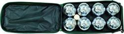 Classic Game Collection 8 Ball 73MM Bocce boules Set With Canvas Storage Case
