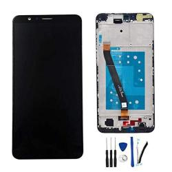"""SOMEFUN Lcd Display Screen Digitizer Touch Panel Huawei Mate Se BND-L24 BND-L34 5.93"""" Assembly Replacement Honor Logo Black W fr"""