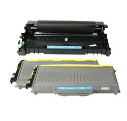 COLOR4WORK Brother 1 Drum DR360 + 2 Toner Cartridge TN360 High Yield Replacement For Printer Brother Dcp 7030 7040 Hl 2140 2150N 2170W Mfc 7340 7840W 7440N 7345N