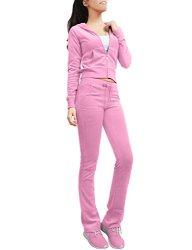 NE People Womens Casual Basic Velour terry Zip Up Hoodie Sweatsuit Set S-3XL