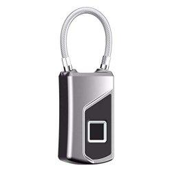 Lnicesky Fingerprint Padlock Lock Quick Access Metal Portable Security Lock Smart Lock