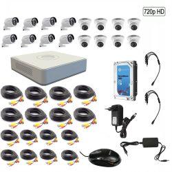 Hikvision 720p 16 Channel Turbo Hd Cctv Kit W 2tb Hard Drive - 720p