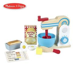 Melissa & Doug Wooden Make-a-cake Mixer Set Kitchen Toy Numbered Turning Dials Encourages Creative Thinking 11-PIECE Set 13.5 H
