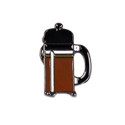 ALLFORU11 Metal Enamel Coffee Cup Filter Chemex Collar Pins Badge 1 Pcs Brooch French Press Pot