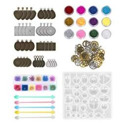 45 Pack Resin Jewelry Making Supplies Kit Art Craft Supplies For Resin Nail Art Diy Craft Including 9 Different Patterns Pendant