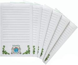 USA Martin Irish Coat Of Arms Notepads - Set Of 6