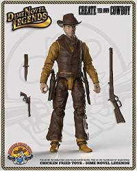 """Dime Novel Legends 1 18 Scale 4"""" Tall Old West Action Figure Cowpuncher"""