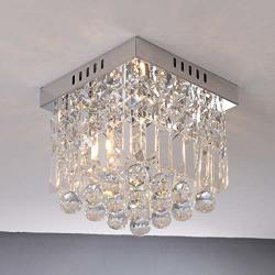 Anxinke Crystal Chandelier Modern Pendent Lamp Home Decor