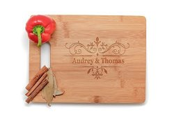 Krezy Case Kitchen Gift - Fiance Personalized Cutting Board Wedding Gift Laser Engraved Wooden Cutting Board