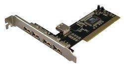 Mecer PCI 4 Port + 1 Internal USB2.0 Card