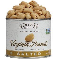 Feridies Virginia Peanuts Salted 9 Oz 3 Pack