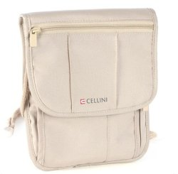 Cellini Accessories Security Neck Pouch Beige