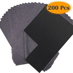 Selizo 200 Sheets Black Carbon Transfer Tracing Graphite Paper For Wood Paper Canvas And Other Art Surfaces 9 X 13 Inches