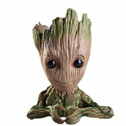 Leegicst Guardians Of The Galaxy Groot Tree Man Flower Pot Or Pens Holder For A Tiny Succulents Plants And Best Christmas Gift For Kids