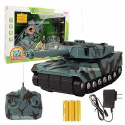 Mopoq MINI Rc Main Battle Tank USB Remote Control Panzer Tank 1:32 German Tiger I Rotating Turret And Recoil Action When Cannon Artillery Shoots
