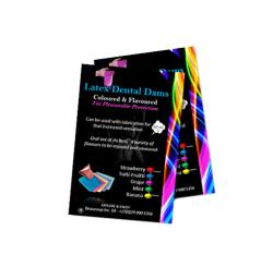 Coloured & Flavoured Latex Dental Dams - Grape Purple - Single