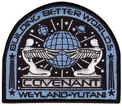 Titan One Alien Movie Prometheus Covenant Weyland Corp Crew Uniform Cosplay Patch