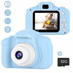 Soonhua Kid Camera MINI Digital Photo&video Toy Camera Gift For 4 5 6 7 8 Year Old Girls Boys 2 Inch HD Screen 12MP