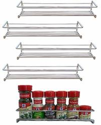 Premium Presents 5 Pack. Wall Mount Spice Rack Organizer For Cabinet. Spice Shelf. Seasoning Organizer. Pantry Door Organizer. S