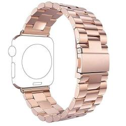 Rosa Schleife For Apple Iwatch Band 42MM Apple Watch Band 42MM Stainless Steel Smart Watch Replacement Bands With Metal Clasp Buckle Bracelet For Apple
