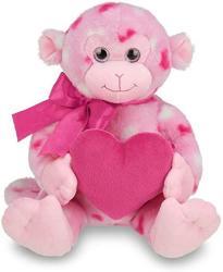 USA Bearington Lovie Louie Valentines Plush Stuffed Animal Monkey With Hearts 11 Inches